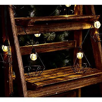 LUMI JARDIN Guirlande Lumineuse Cage en métal lumière ...