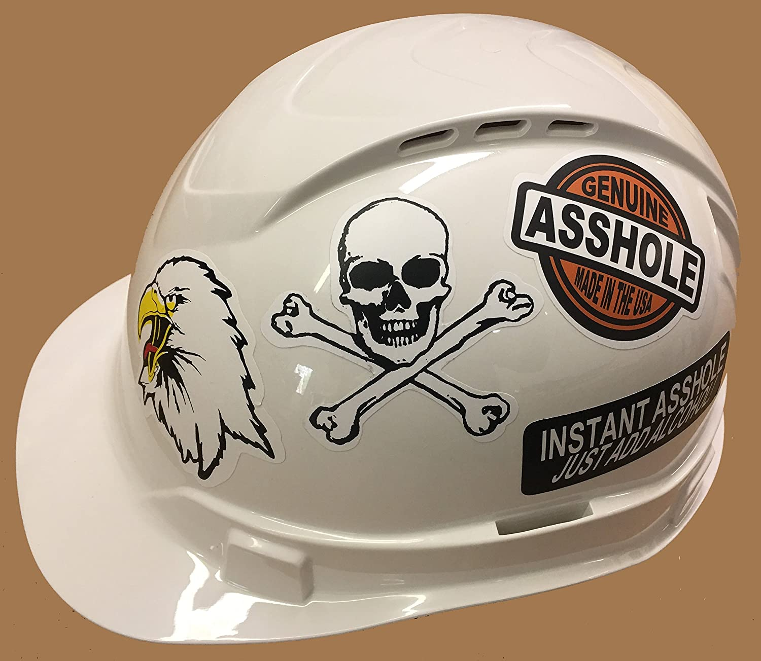 Helmetstickers.com Perfect gift or stocking stuffer Helmet UV Coated etc 21 Vinyl Decals rude funny stickers Lunchbox Made in the USA Hardhat Crude Great for Toolbox