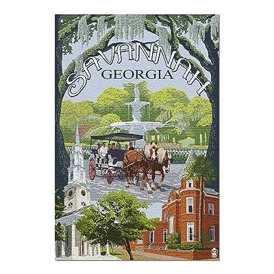 Savannah, Georgia - Town Views (Premium 1000 Piece Jigsaw Puzzle for Adults, 20x30, Made in USA!): Toys & Games