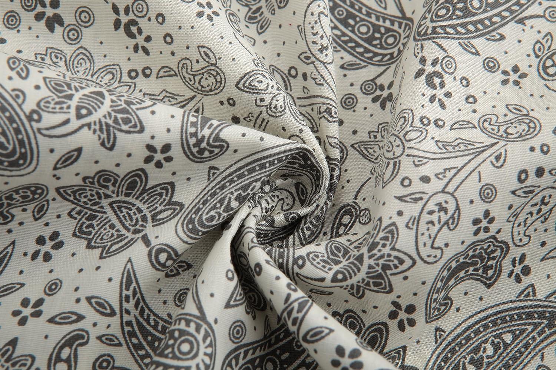 Jandukar Uomo Cotone Manica Lunga Moda Lusso Stampa Camicia di Fiore