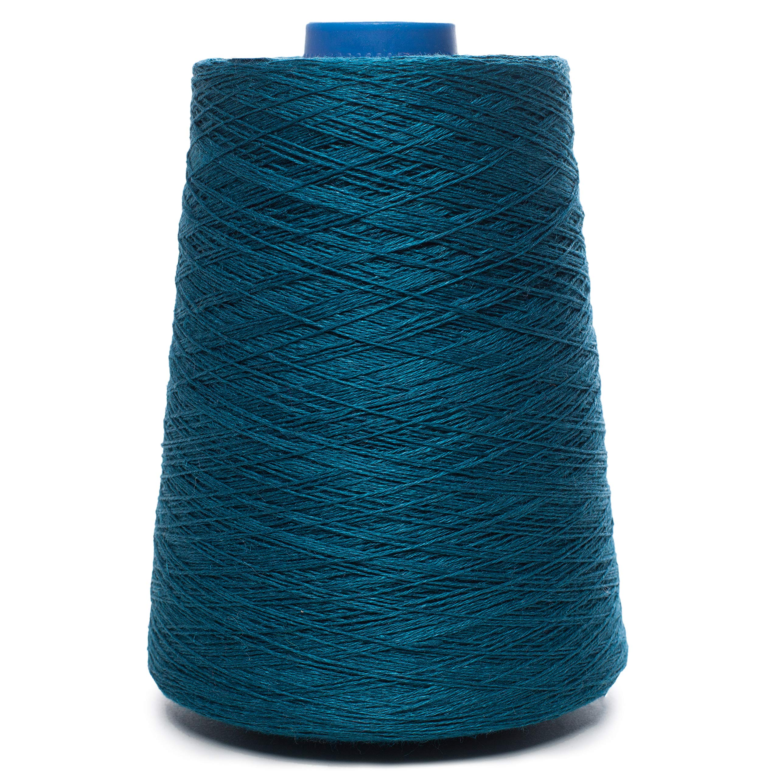 Linen Yarn Cone - 100% Flax Linen - One Pound Yarn - 1 LBS - Turquoise Blue Yarn - 3 PLY - Sewing Weaving Crochet Embroidering - 3.000 Yards - Flax Fiber