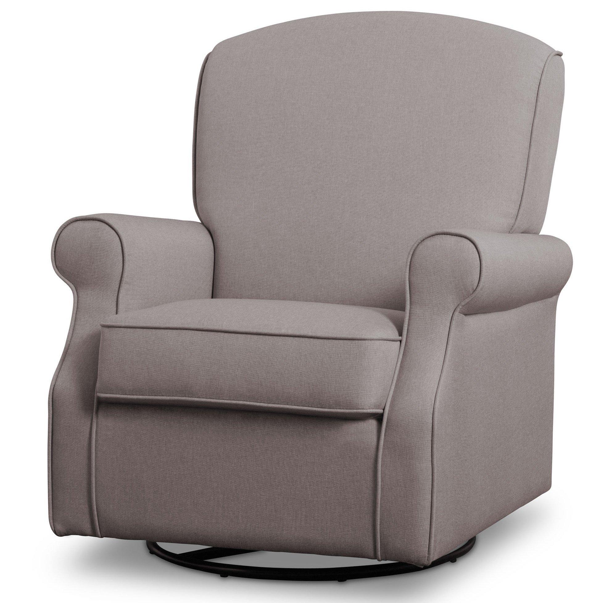 Delta Children Parker Nursery Glider Swivel Rocker Chair, Heather Grey