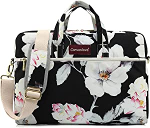 Canvaslove Lotus Pattern 15 inch Waterproof Laptop Shoulder Messenger Bag Case With Rebound Bubble Protection for 14 inch-15.6 inch laptop