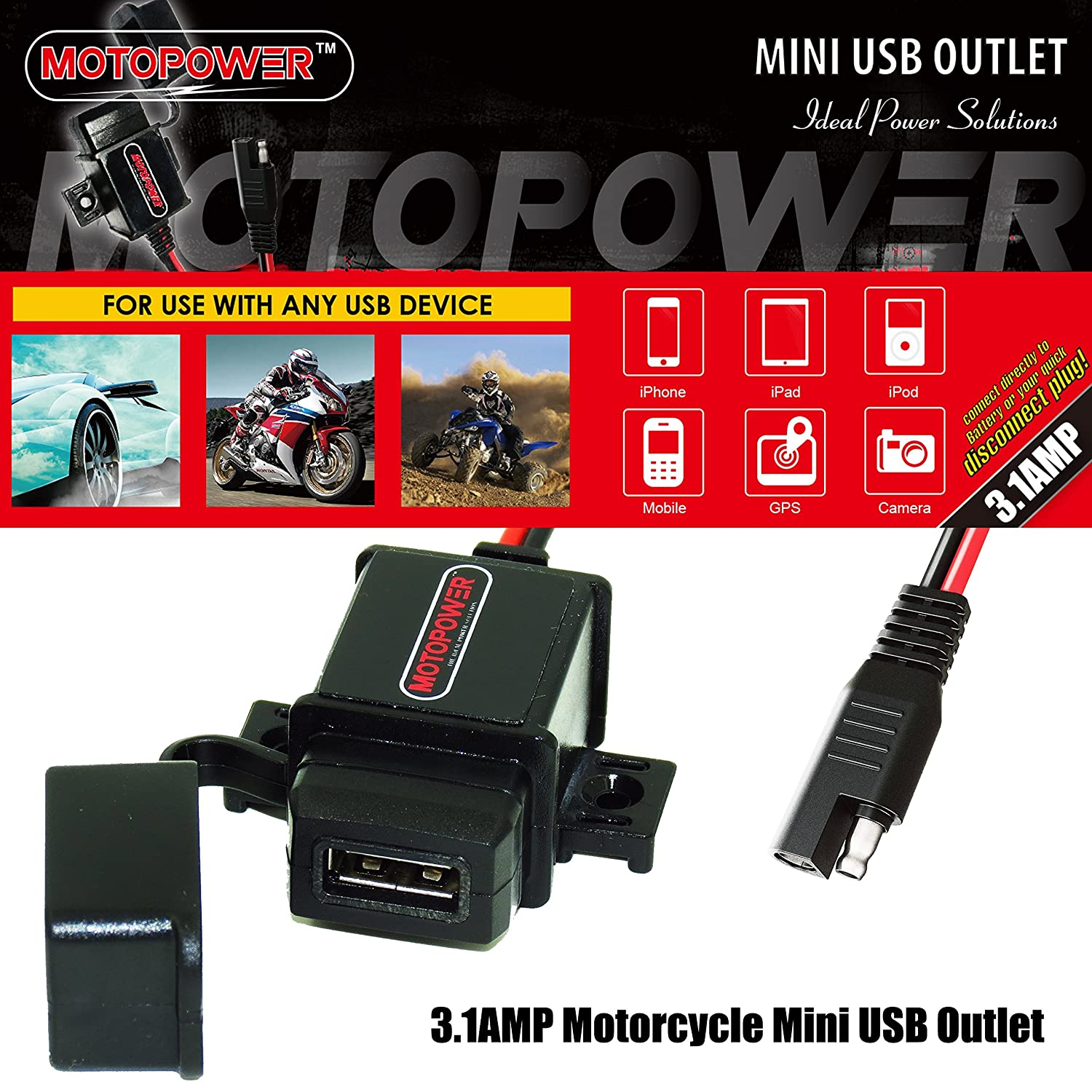 MOTOPOWER MP0609B Bike Motorcycle Cell Phone Mount Holder Universal Mountain /& Road Bicycle Motorcycle Handlebar Cradle Holder for Any Smartphone /& GPS