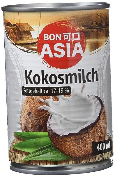 Bonasia Leche de Coco, Contenido de Grasa 17-19% - Paquete de 12