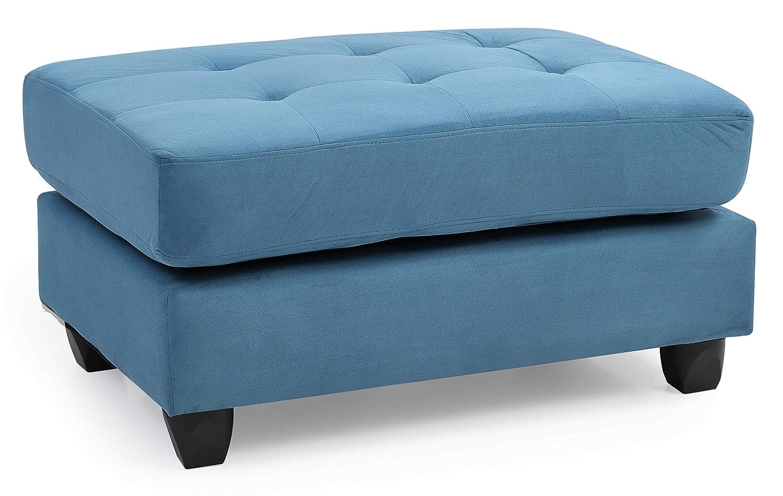 Amazon.com: Glory muebles g638-o, otomana de salón, Aqua ...