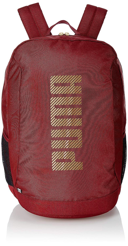 PUMA 32 Ltrs Pomegranate-Gold Laptop Backpack (7598703)