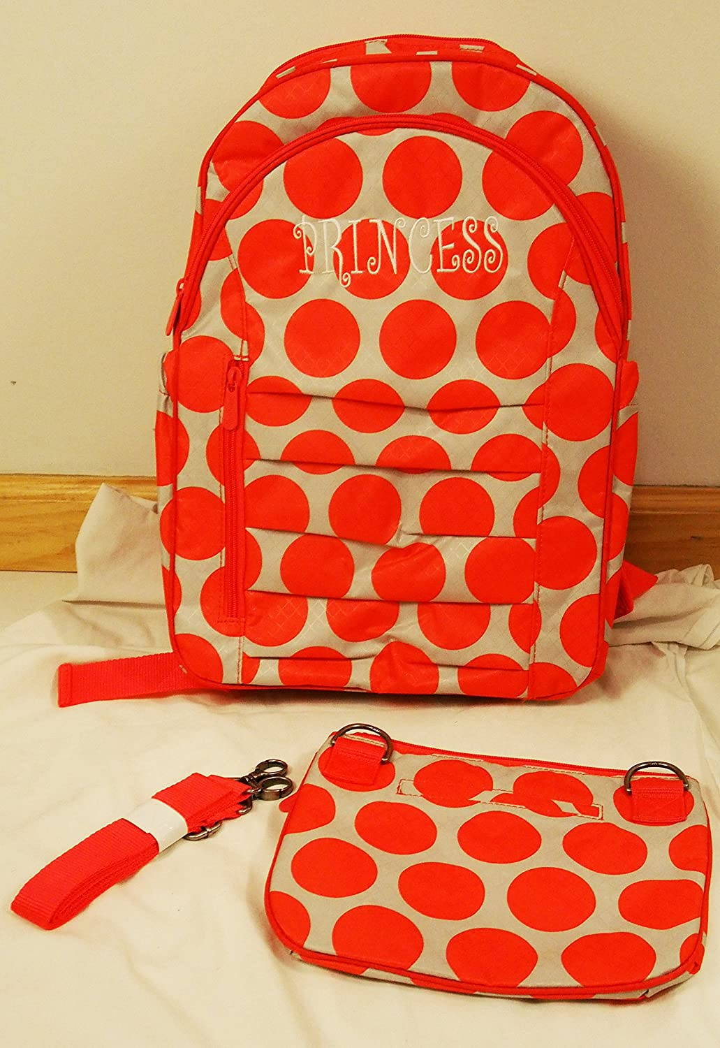 Thirty One Her Deluxe Backpack in Coral Mod Dot - 4485 - No Monogram by Thirty-One   B00L1TZJV4