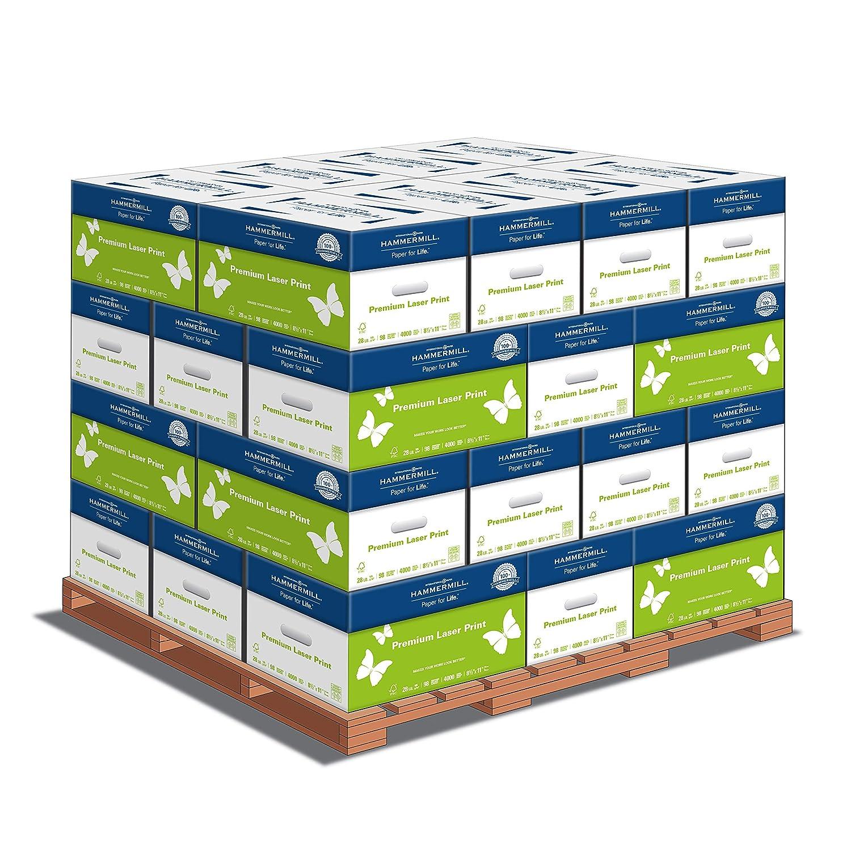 Hammermill Paper, Premium Laser Print Paper, 8 5 x 11 Paper, Letter Size,  28lb Paper, 98 Bright, 1 Pallet / 32 Cartons (125534C)