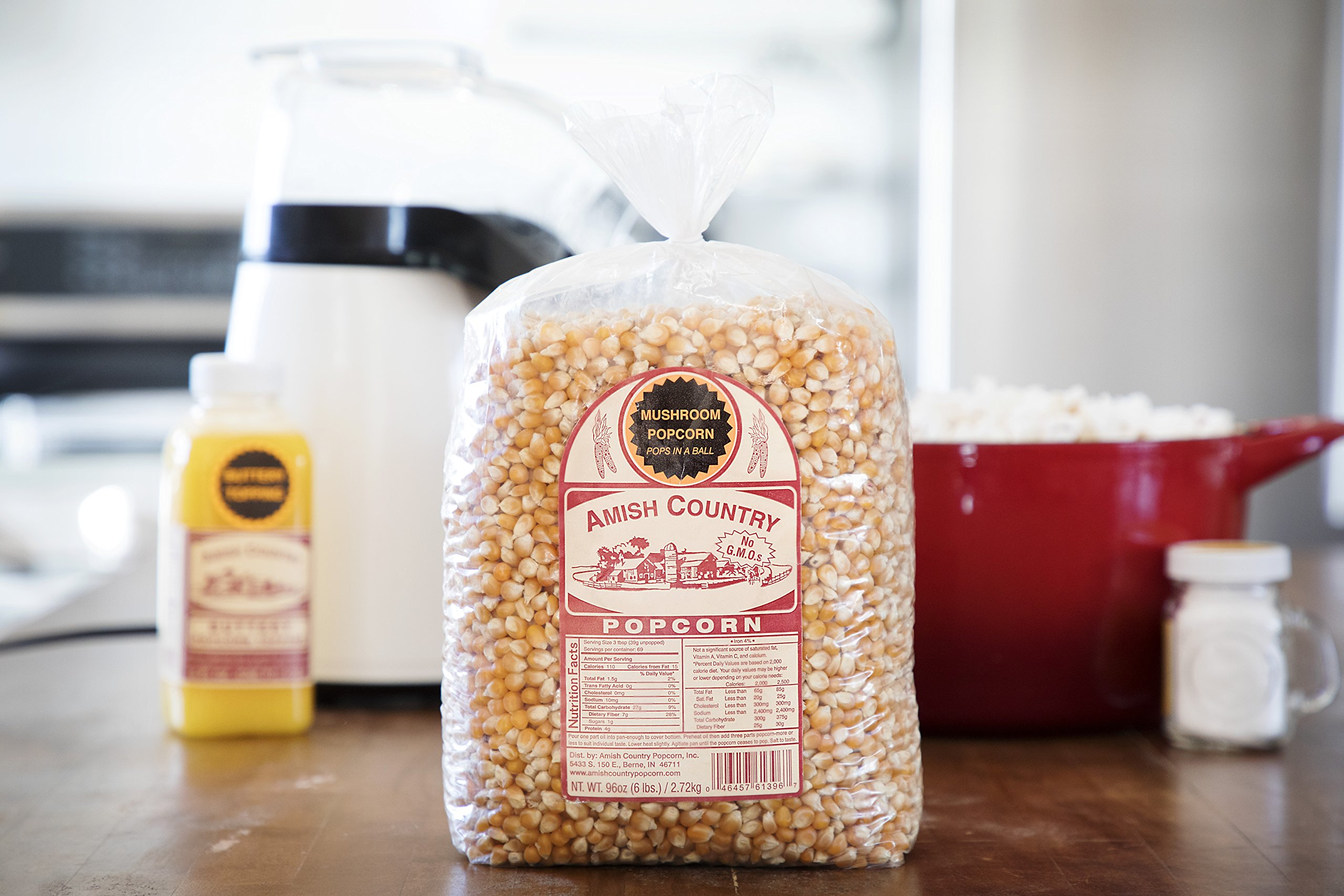 Amish Country Popcorn - Mushroom Popcorn (6 Pound Bag) - Old Fashioned, Non GMO, Gluten Free, Microwaveable, Stovetop and Air Popper Friendly - with Recipe Guide by Amish Country Popcorn (Image #5)