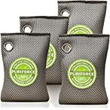 Coconut Charcoal Air Purifying Bag (7oz x 4Pack), 3 Times Absorption Efficiency, Natural Car Air Freshener, Activated…