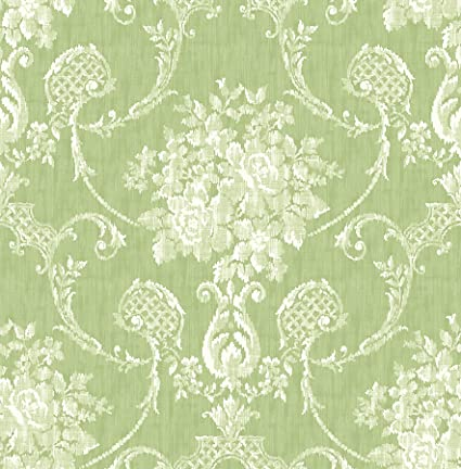 Bhf Fd22747 Mirabelle Cameo Damask Winsome Floral Green