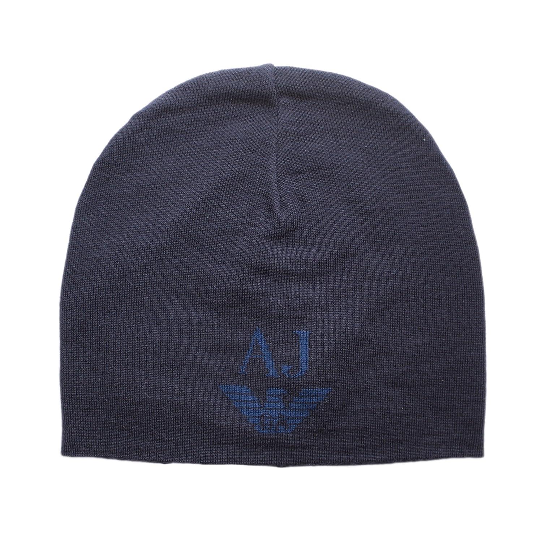 Armani Jeans écharpe Tricot Bonnet  sciarpa  Ensemble Cadeau - Bleu Foncé,  Taille Unique  Amazon.fr  Vêtements et accessoires e6bb86eca252