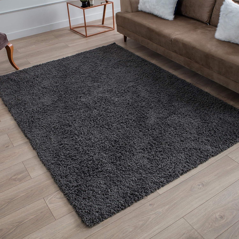 Amazon Com Perla Furniture Gray Shag Grey Shaggy Area Rugs 8x10