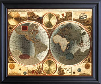 Worksheet. Amazoncom A New and Accvrat Map of the World Vintage Wall Decor