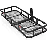 "Best Choice Products SKY1658 60"" Folding Cargo Carrier Luggage Rack (Hauler Truck or Car Hitch 2"" Receiver)"