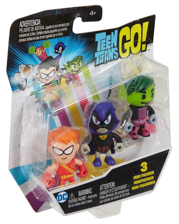 Mini Raven 3-Pack DWG03 Speedy /& Beastby Exclusive Figures Mattel Teen Titans Go