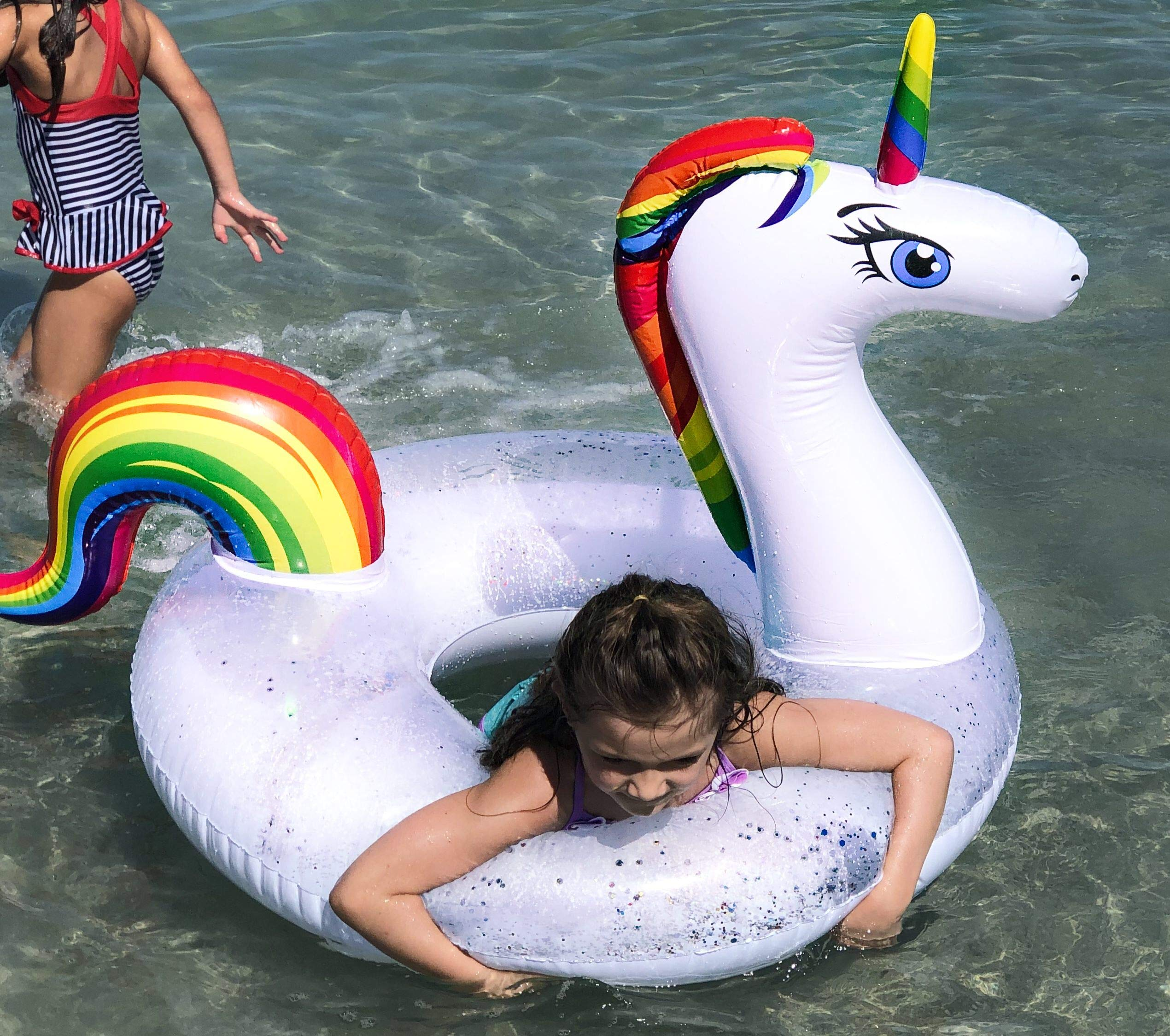 THE ORIGINAL UNICORN SPRINKLER Toy - Giant Inflatable Unicorn Sprinkler for Kids Adults - Great Outdoor Birthday Party… 8