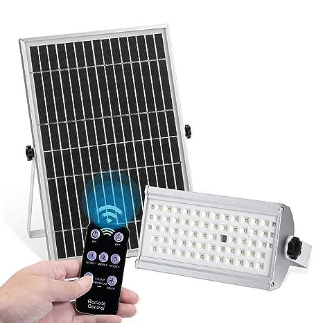 Amazon.com: KUFUNG - Luz de inundación solar con sensor de ...