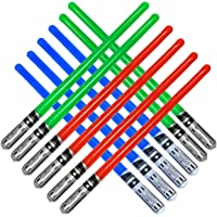 Inflatable Army 12 Inflatable Light Saber Sword Toys - 4 Green, 4 Red 4 Blue Lightsabers - Party Favor, Halloween…