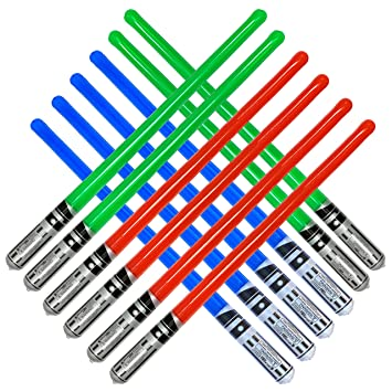 Amazon.com: 12 juguetes inflables de la espada de sable del ...