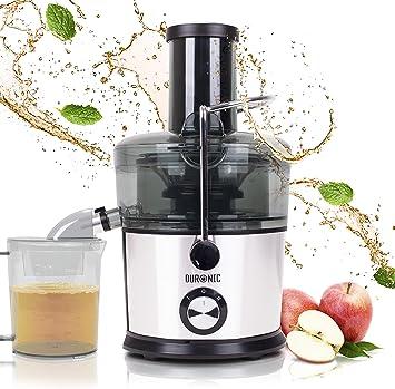 Duronic JE7C Licuadora de 800W para frutas y verduras – 2 Velocidades – Boca Ancha 85 mm – Boquilla antigoteo – Jarra de 1L – Libre de BPA: Amazon.es