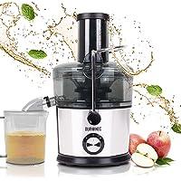 Duronic JE7C Licuadora de 800W para frutas y verduras – 2 Velocidades – Boca Ancha 85 mm – Boquilla antigoteo – Jarra de…