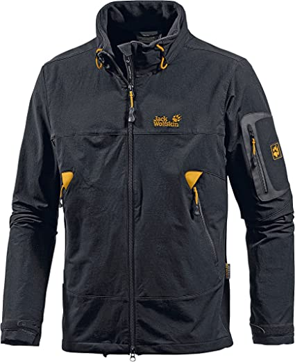 per esempio In tutto il mondo Strofinare  Jack Wolfskin MUDDY PASS JACKET MEN - Black, XL: Amazon.co.uk: Clothing