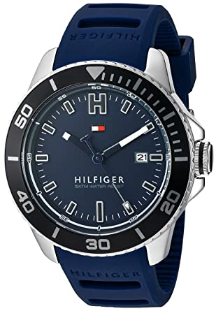 54855c14c9468 Amazon.com  Tommy Hilfiger Men s Quartz Stainless Steel and Silicone ...