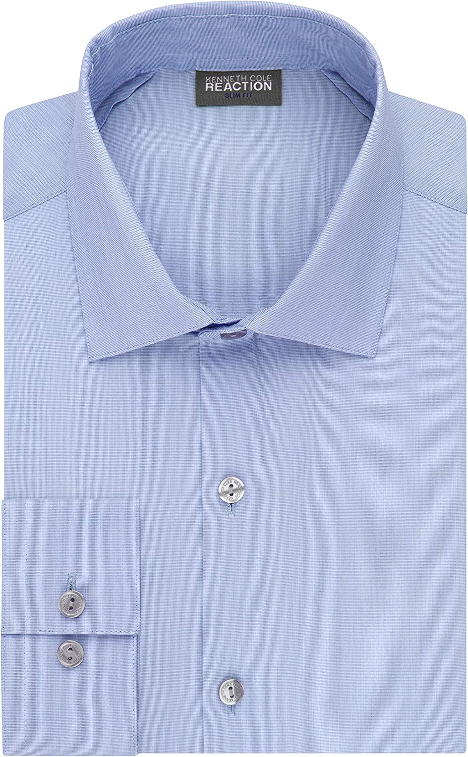 Kenneth Cole REACTION Mens Dress Shirt Slim Fit Technicole Stretch Solid