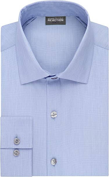 Kenneth Cole Mens 3-Way Stretch Performance Button Up Dress Shirt