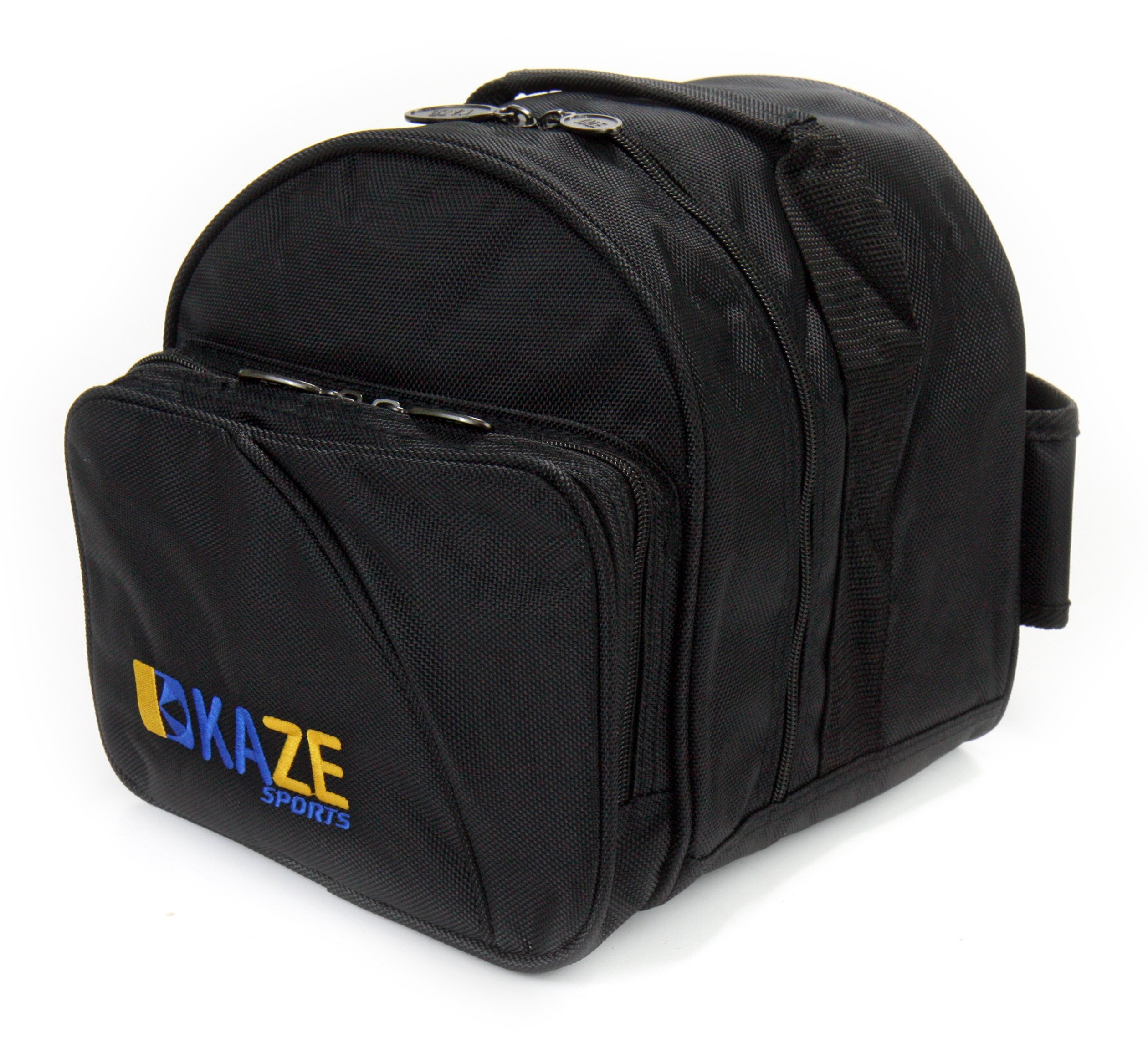 KAZE SPORTS 1 Ball Spare Kit Single Tote Bowling Add On Bag (Black) by KAZE SPORTS