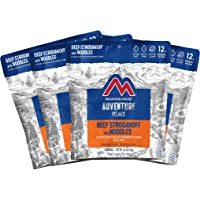 Mountain House Beef Stroganoff with Noodles | Freeze Dried Backpacking & Camping Food | 4-Pack