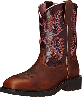 Amazon.com | Ariat Women's Fatbaby Cowgirl Steel Toe Work Boot ...