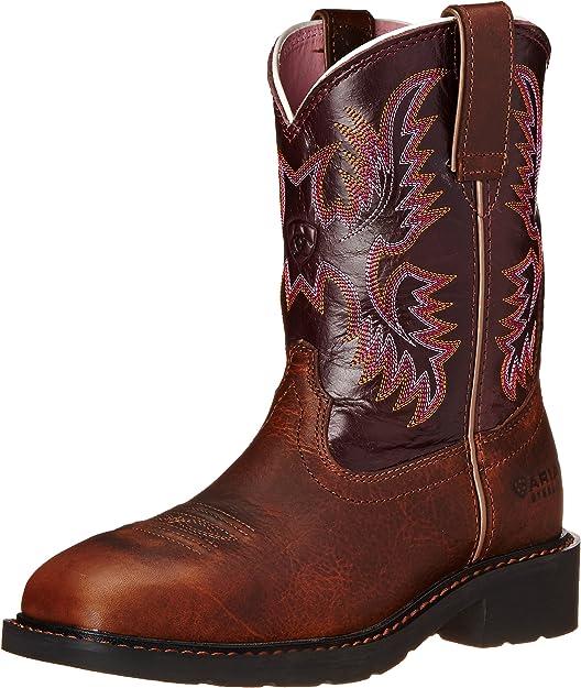 steel toed cowboy boots women - ariat Krista Pull