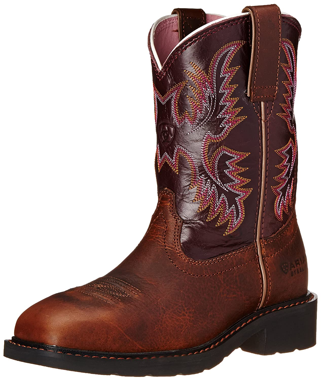 Ariat Women's Krista Pull-on Steel Toe Western Cowboy Boot B005M1Q5MO 6.5 B(M) US|Dark Tan