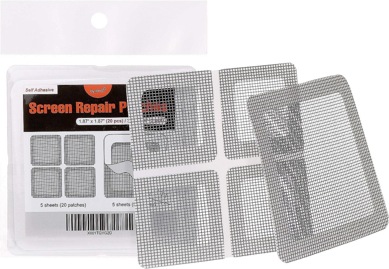 Window repair Patch Fensterreparatur Patch Mesh-Bildschirm mit hoher Dichte T/ürsubventionen Dauerhafter Fiberglas Patch Transparenter Klebeband-R/ückkleber
