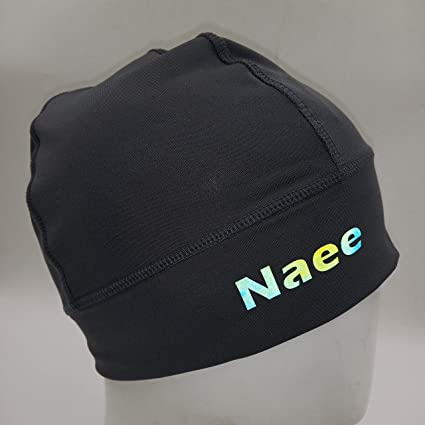 NAEE Helmet Liner Skull Cap Beanie Cycling Beanie with Colorful Reflective Logo