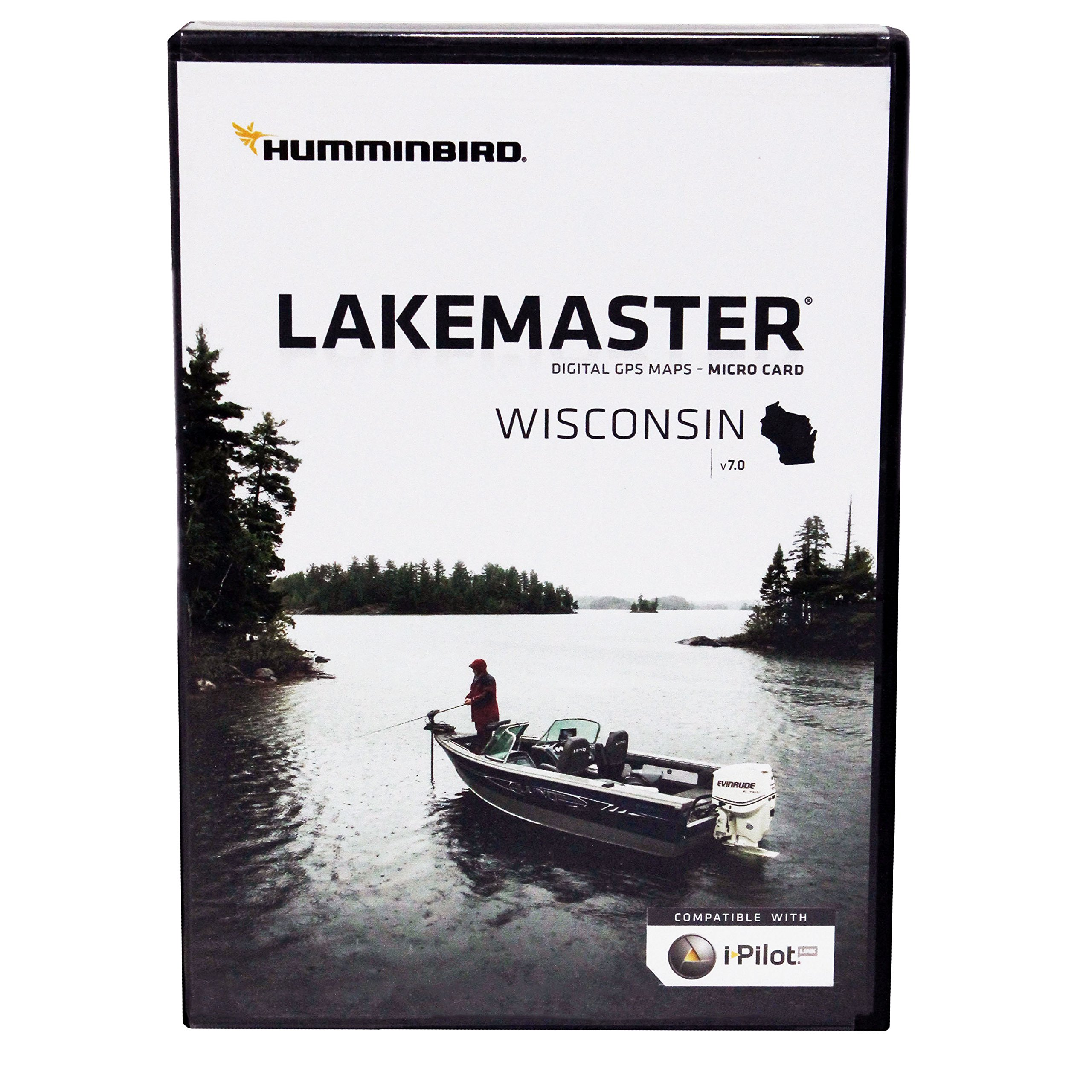 Humminbird LakeMaster Wisconsin Edition Digital GPS Lake Maps, Micro SD Card, Version 7 by Humminbird