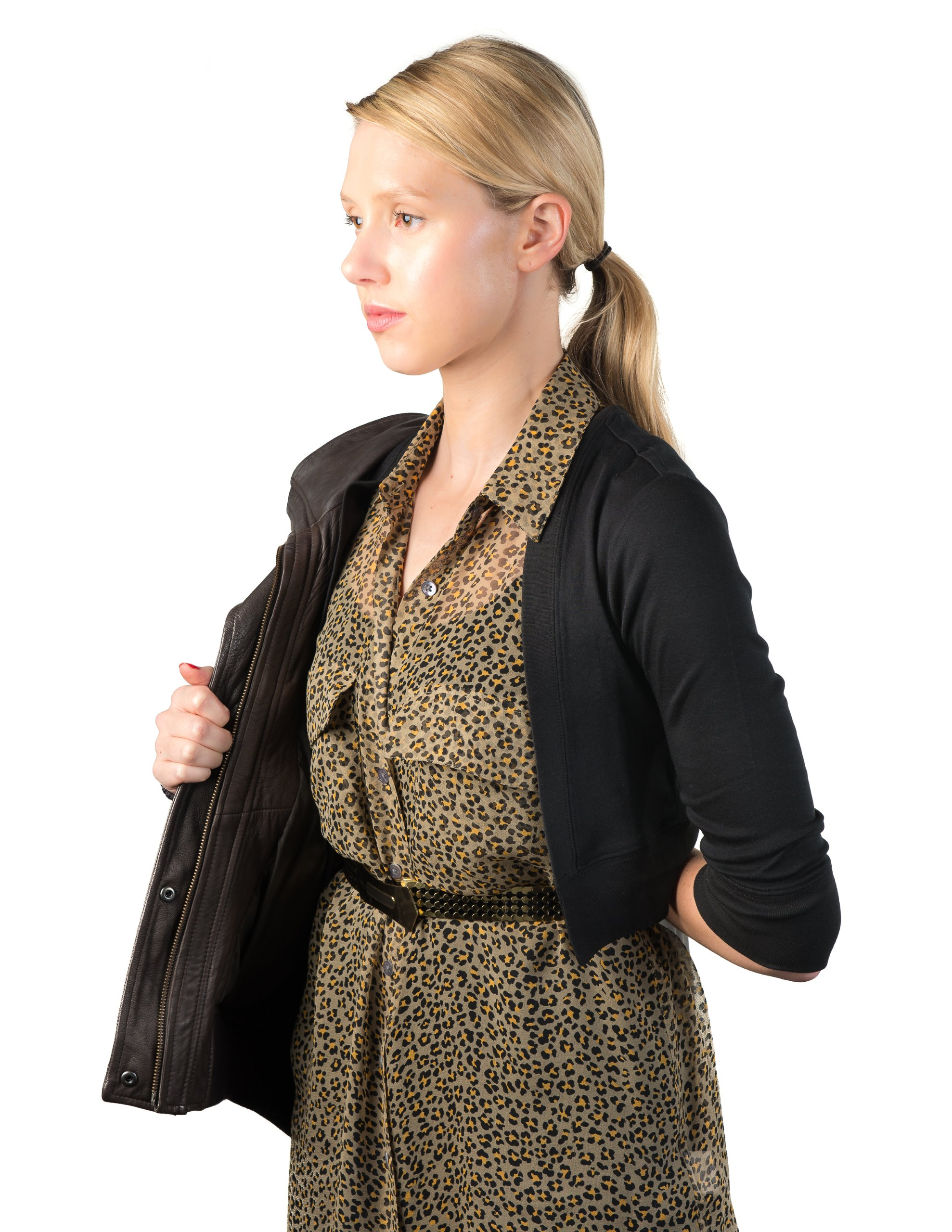 Secret Sweater Women's Packable 'Secret' Layering Cardigan M Black