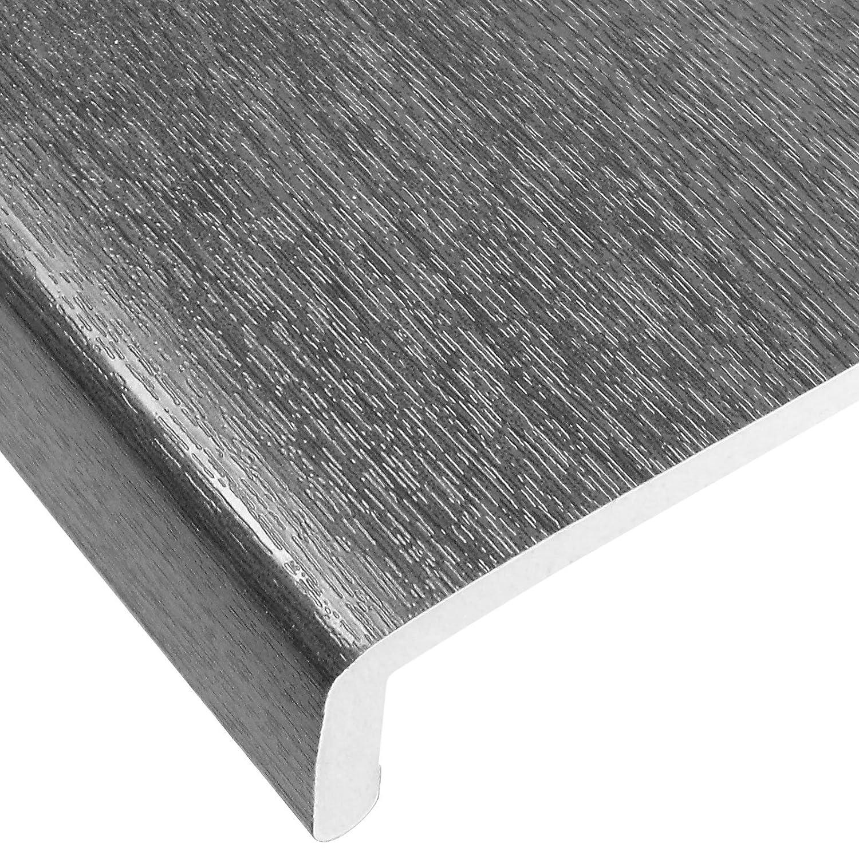 9/mm dick 300 mm Wei/ße Hart-PVC-Fensterplatte // -Br/üstungsabdeckung Kunststoff-Fensterbankabdeckung. 1,25/m lang