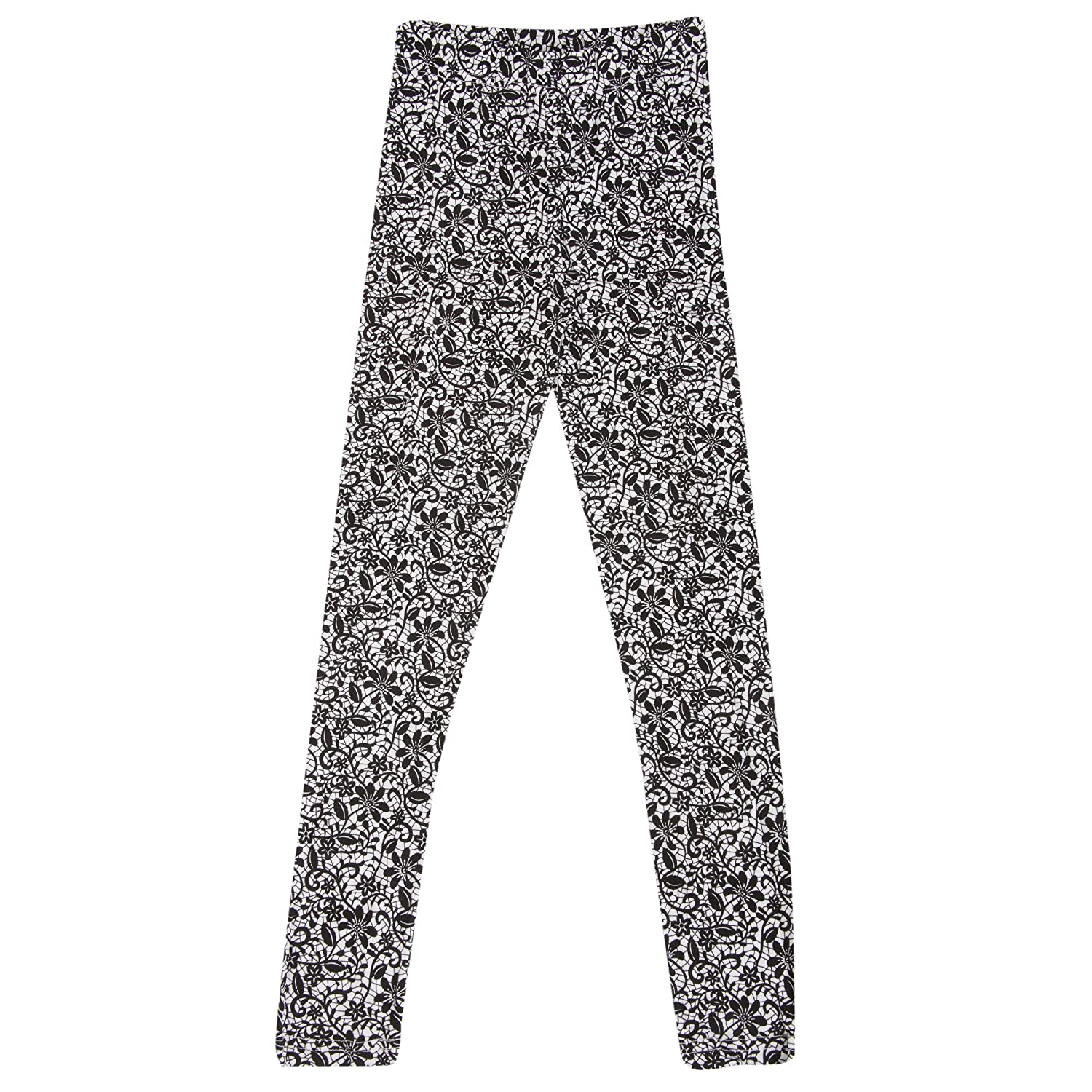 Universal Textiles Childrens Girls Thermal Floral Mosaic Pattern Long Janes UTTHERM146_4