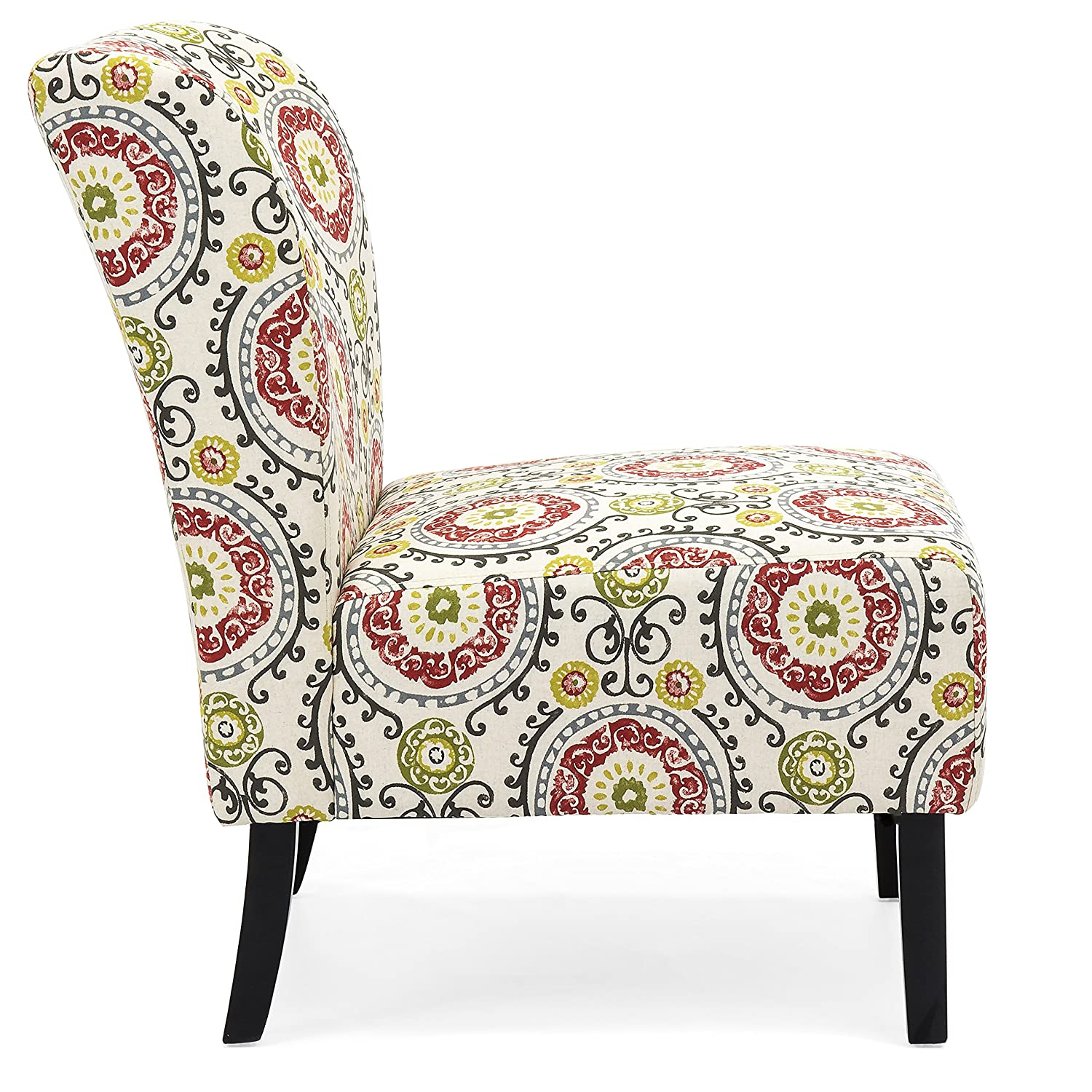 Amazon com best choice products modern contemporary upholstered armless accent chair multicolor kitchen dining