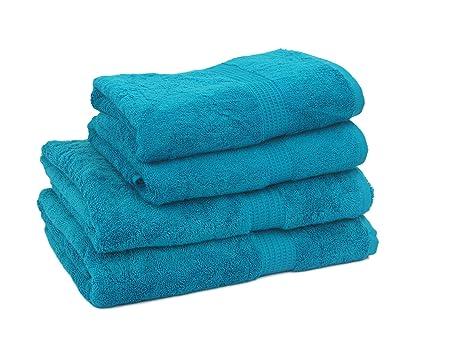 HBS Super absorbente Supreme 100% toalla de algodón egipcio para invitados, 4 piezas,