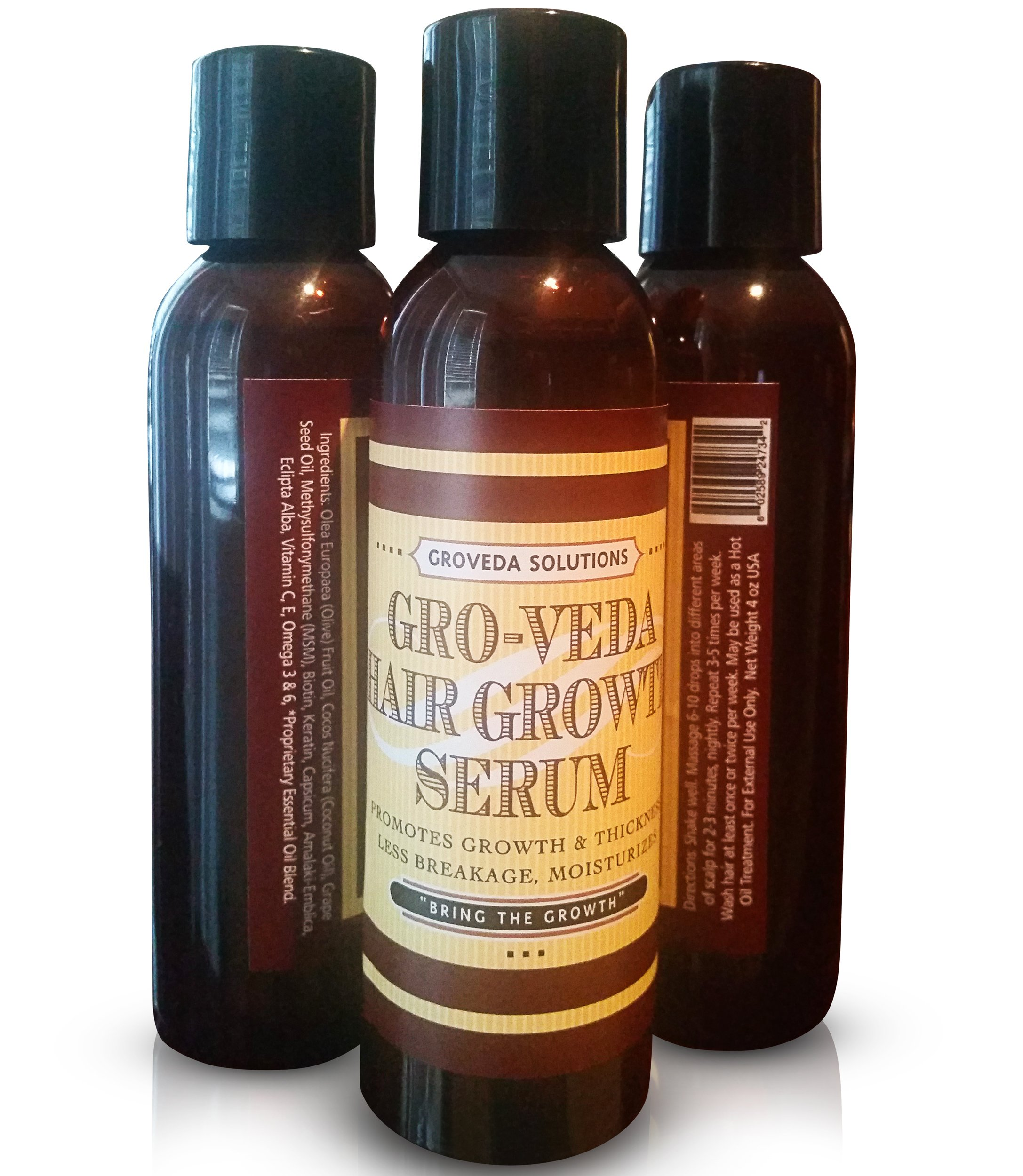 Groveda Fast Hair Growth Product for Women with Peppermint, Amla, Coconut Oil