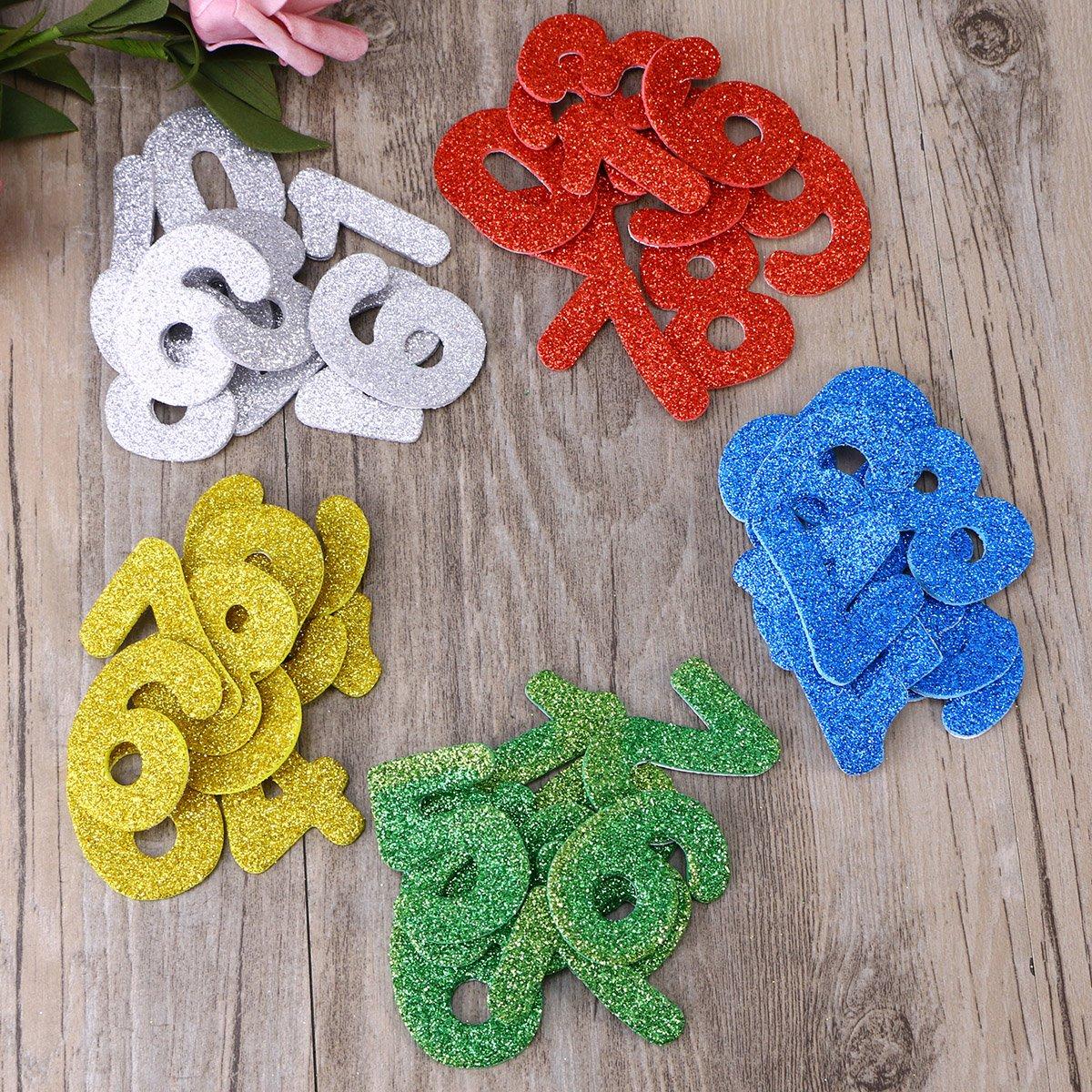TOYMYTOY toymy Toy 200/Unidades 0/ /9/N/úmeros Pegatinas Etiqueta reluciente EVA Etiqueta para ni/ños