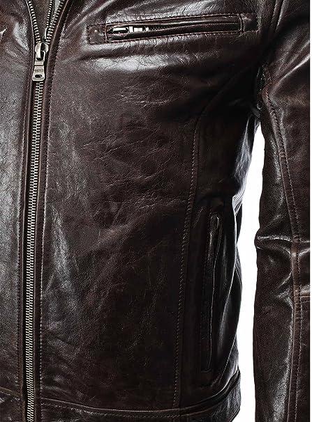 Gipsy Lederjacke Jacke Herren Kunstlederjacke schwarz Männer