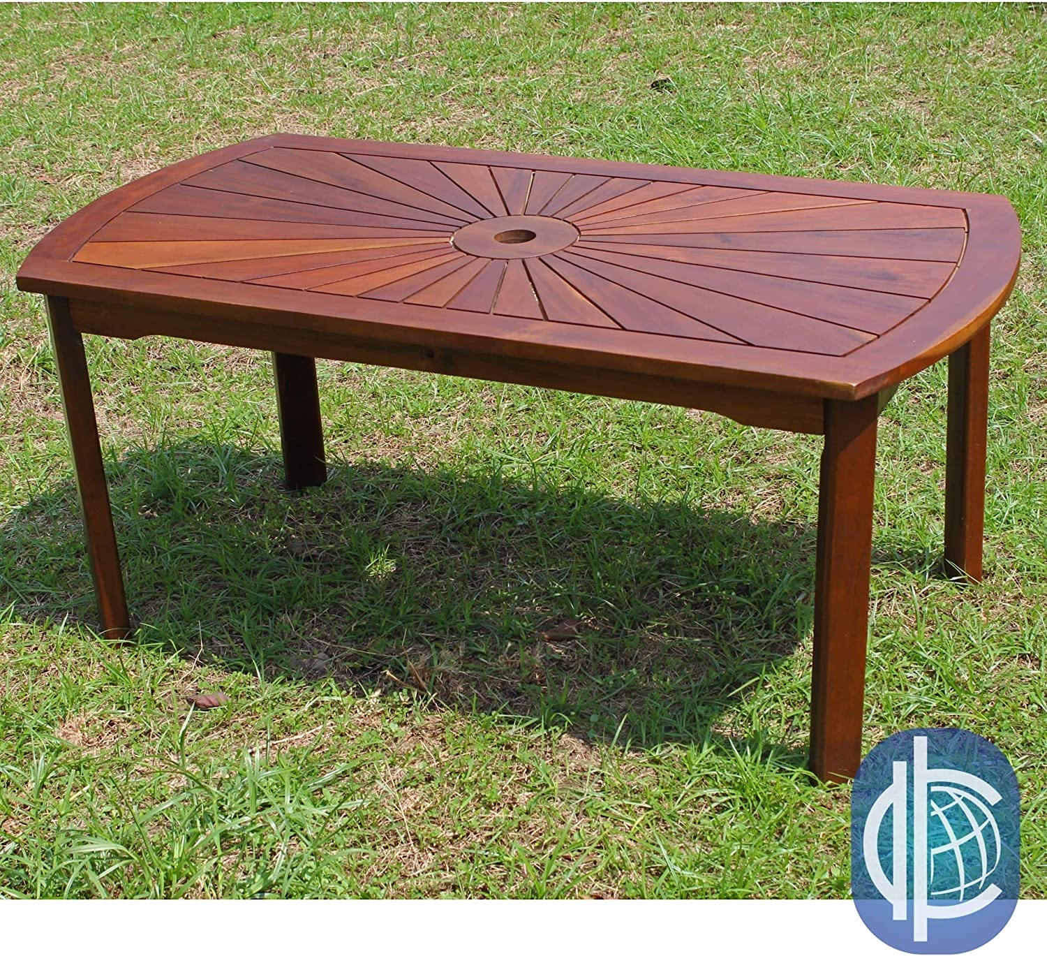 International Caravan Furniture Piece Highland Acacia Sunburst Coffee Table