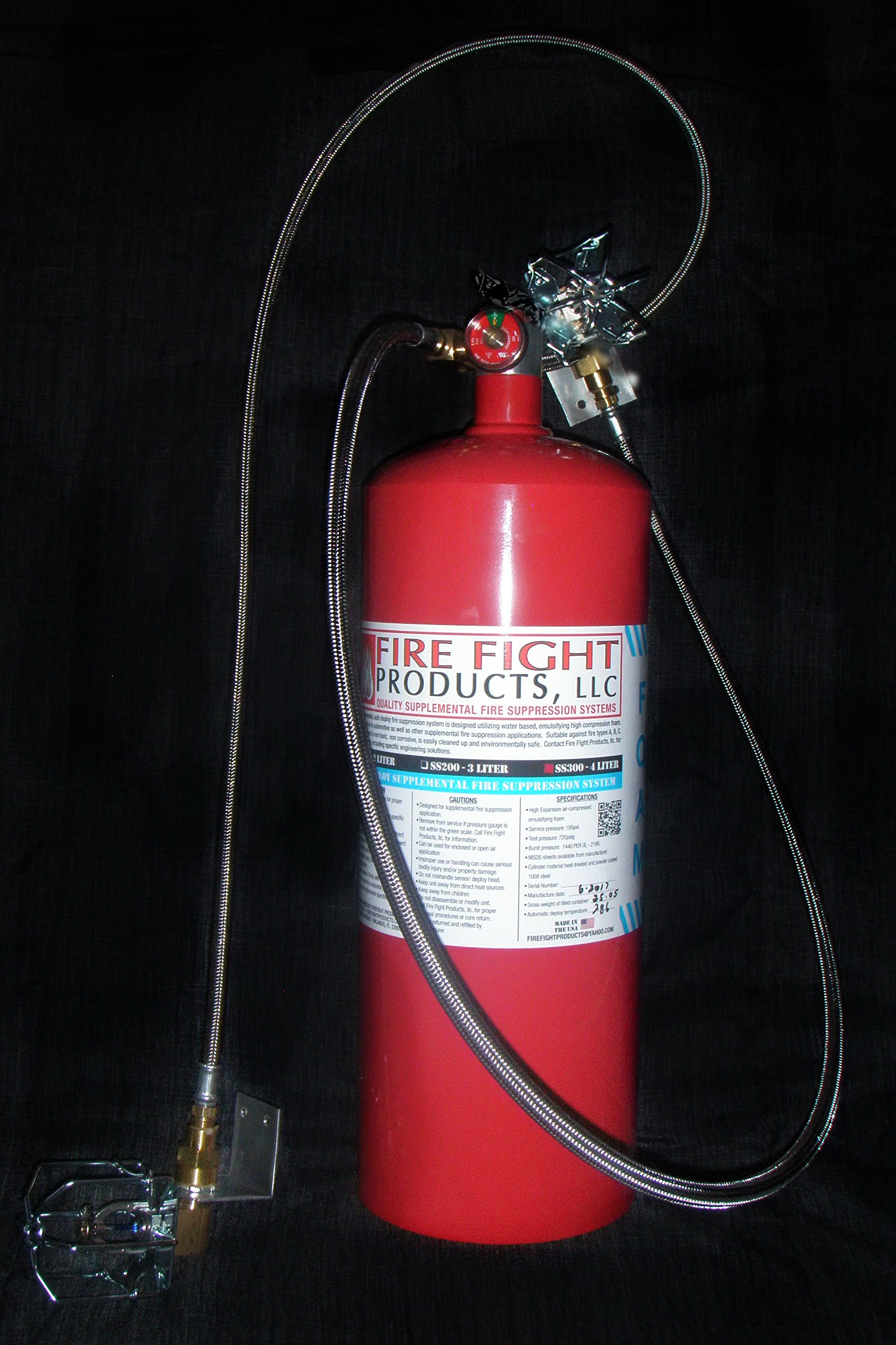 Fire Fight Products - SS300-R4-DOUBLE Large Format 4 Liter FOAM Automatic release Fire Suppression System