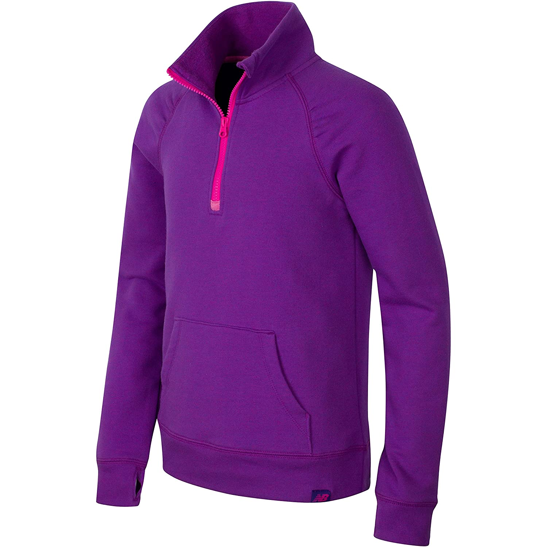 New Balance Girls 1//4 Zip Pullover Tops